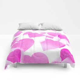 Blended Pink Hearts Comforters