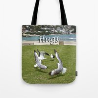 happy birthday Tote Bags featuring Happy Birthday by CrismanArt