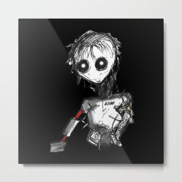 Robot Angel: 6100 Metal Print