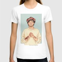 coconutwishes T-shirts featuring Tommo Flower crown by Coconut Wishes