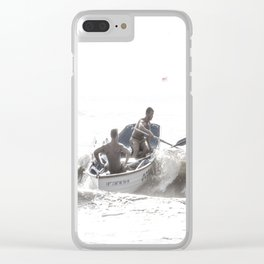 Wave riders Clear iPhone Case