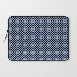 Serenity and Black Polka Dots Laptop Sleeve