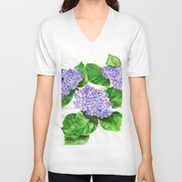 hydrangea V-neck T-shirts featuring Hydrangea by Kate Havekost Fine Art