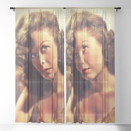 Susan Hayward, Hollywood Legend Sheer Curtain