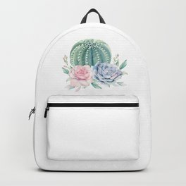 Cactus Rose Succulents Backpack