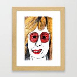 Andrea Riseborough on the battle of the sexes Framed Art Print