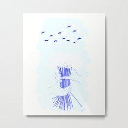 Bouquet of Flamingos II Metal Print