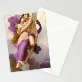 'The Abduction of Psyche' renaissance masterpiece painting by William Adolphe Bouguereau Stationery Cards