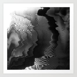 Digital Waves Art Print