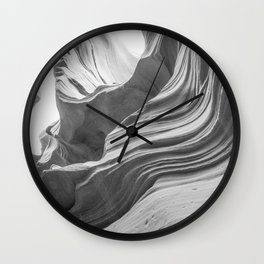 ANTELOPE CANYON XXXVI (B+W) Wall Clock