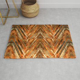 Wood Plank Texture Rug