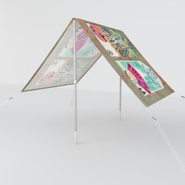 Label Fables, Japan I :: Fine Art Collage Sun Shade