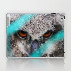 eyes of fire, young bird of prey portrait Laptop & iPad Skin