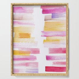 8 | 181101 Watercolour Palette Abstract Art | Lines | Stripes | Serving Tray