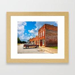 Gone To Town - Rural Georgia Framed Art Print