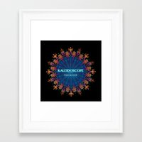 book cover Framed Art Prints featuring Kaleidoscope Art Book Cover by Sam Skyler