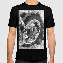 Motorbike Wheel Rusted Vintage Retro Vibe Bikers History  T-shirt