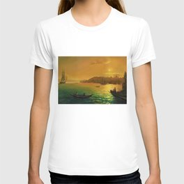 View of Constantinople by Moonlight by Ivan Aivazovsky T-shirt