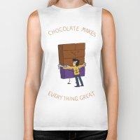 chocolate Biker Tanks featuring Chocolate! by Wackom