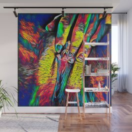4246s-RES Abstract Pop Color Erotic Explicit Clitteral Psychedelic Yoni Self Love Wall Mural