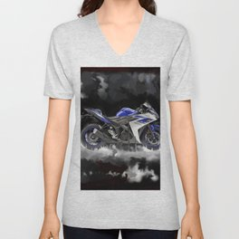 Black Clouds Unisex V-Neck
