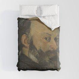 Paul Cezanne - Portrait de l'artiste regardant par-dessus son epaule Comforters