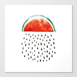 watermelon rain Canvas Print