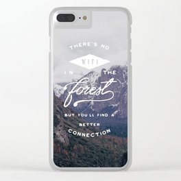 Find a Better Connection Clear iPhone Case