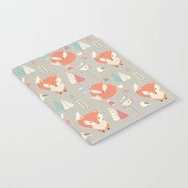 Baby fox pattern 01 Notebook