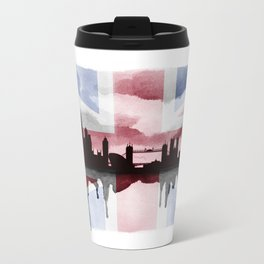 Great British Flag London Skyline 2 Metal Travel Mug