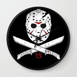Jason mask Wall Clock