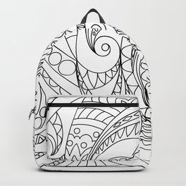 abstract zen tangled pattern swirl Backpack