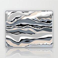 Black and white scandinavian minimal line pattern Laptop & iPad Skin