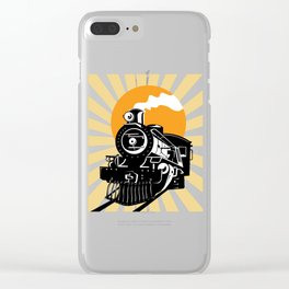 Retro Vintage Locomotive Train Steam Engine Clear iPhone Case