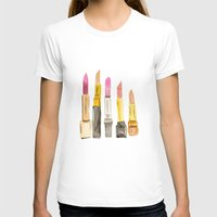 lipstick T-shirts featuring Lipstick by Sweet Colors Gallery