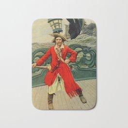 """Captain Keitt"" Pirate Art by Howard Pyle Bath Mat"