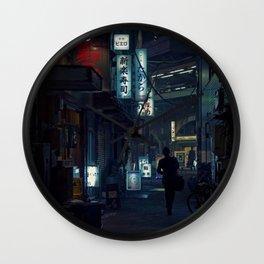 Japan Street Wall Clock