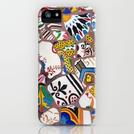 Gaudi tiles Barcelona iPhone Case