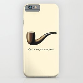 In the style of Magritte iPhone Case