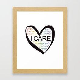 I CARE (PRIDE BLK) Framed Art Print