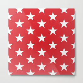 Superstars White on Red Large Metal Print
