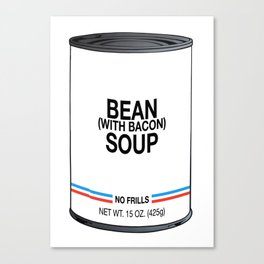 10 Bean with Bacon Canvas Print