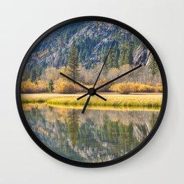 Silver Lake Reflections Wall Clock