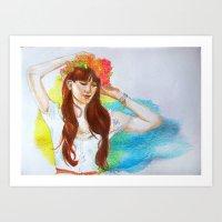 minnie Art Prints featuring Minnie by eleidiel