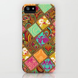 Patchwork Paisley iPhone Case