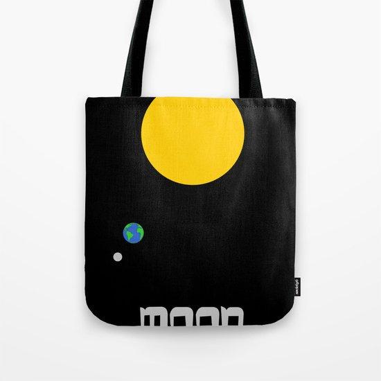The Moon in Minimal Tote Bag