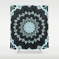 deco Shower Curtains featuring Deco Symmetry by Octavia Soldani
