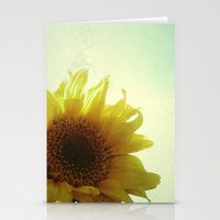 sunflower Stationery Cards featuring Sunflower by Cassia Beck