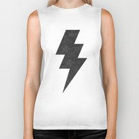 lightning Biker Tanks featuring lightning strike by Vin Zzep