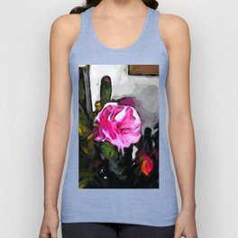 Flower of Pink with Burgundy Buds Unisex Tank Top